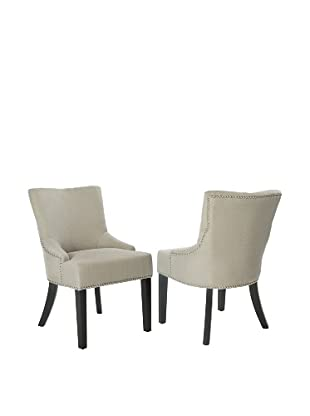 Safavieh Set of 2 Lotus Kd Side Chairs, Antique Gold