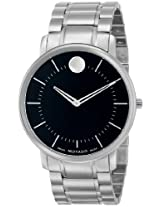 "Movado Men's 0606687 ""Movado TC"" Stainless Steel Black Dress Watch"