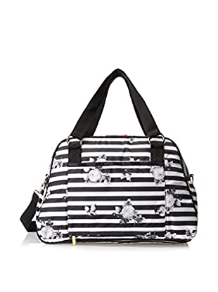 Benefit for LeSportsac Women's On The Run Overnighter Carry On, Stripe-O-Gram