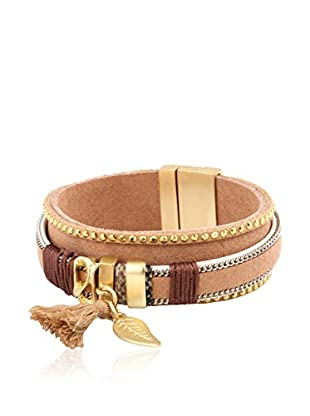 Chamay Armband  beige/goldfarben