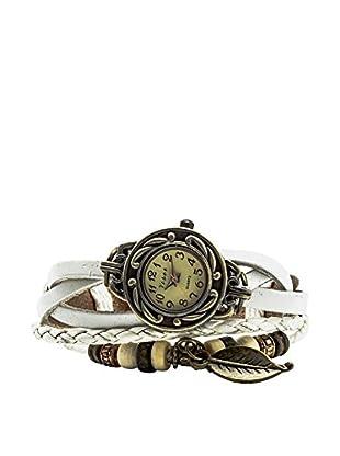 F&P Reloj Vintage Hoja Blanco Reloj Vintage Hoja Blanco Blanco