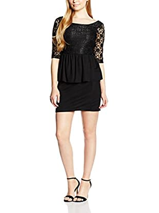 Rare London Kleid Contrast Lace Peplum