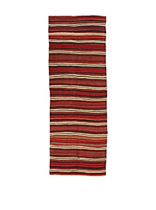 Design Community By Loomier Teppich Kilim Caucasico rot 120 x 325 cm