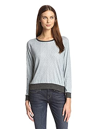 Nation LTD Women's Cable Knit Print Tee