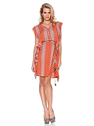 Guess Vestido Pañuelo (Naranja)