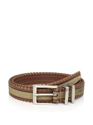 Mezlan Men's Belt (Brown/Olive)