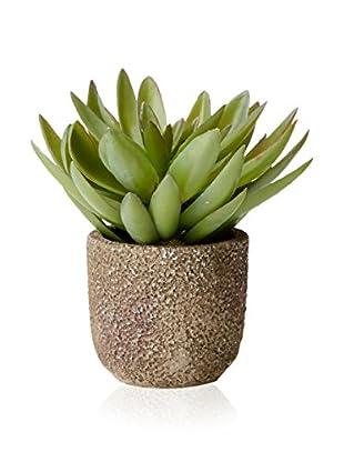 Lux-Art Silks Succulent Pot, Green