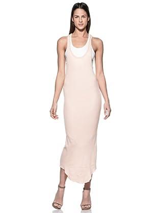 Crema Vestido Largo Espalda Olímpica (Rosa)