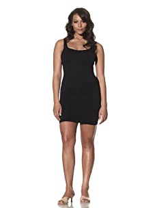 Cass Women's Skinny Scoop Neck Dress (Black)
