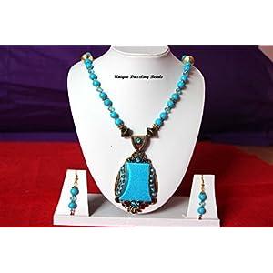 Unique Dazzling Beads Fascinating Blue