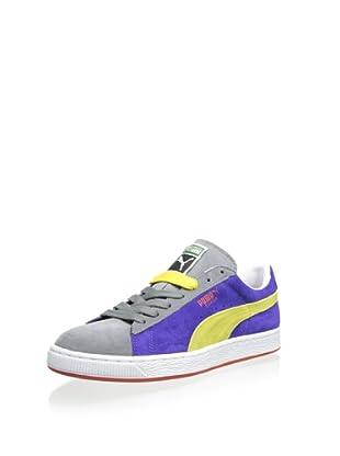 PUMA Men's Suede Classic Sneaker (Liberty Blue/Blazing Yellow/Quiet Shade)