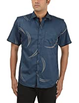 King Richard Men's Casual Shirt (AYK26_42, Blue, 42)