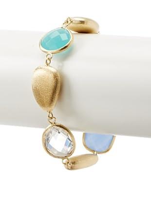 Rivka Friedman Mint & Blue Chalcedony Crystal Bracelet