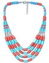 V3 Craft's Multi-strand Resin Bead Necklace for Women