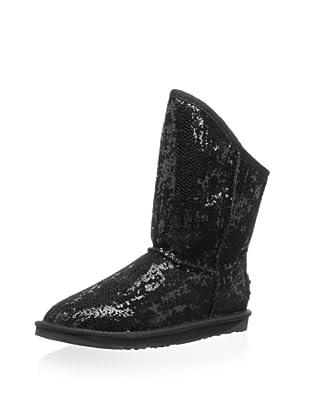 Australia Luxe Collective Women's Cozy Short Sequin Boot (Black Sequin)