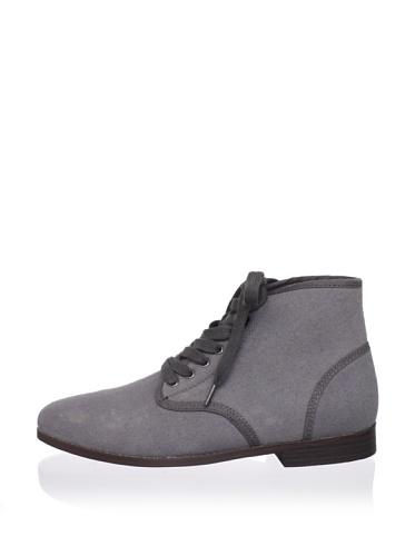 Generic Surplus Men's Ledger Canvas Mid Boot (Charcoal Grey)