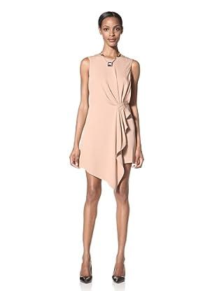 Giorgio Armani Women's Silk Side Ruffle Dress (Pink)