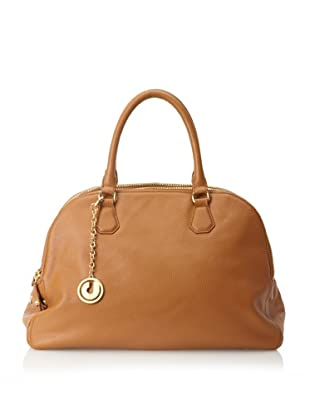 Charles Jourdan Women's Ada Multi Pocket Top Handle Satchel (Tan)