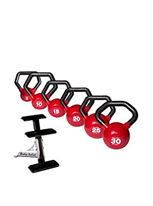 Body Solid Kettle Ball Package with Rack, Multi