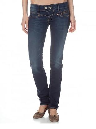 Herrlicher Jeans Tight stretch Low Rise (Mittelblau)