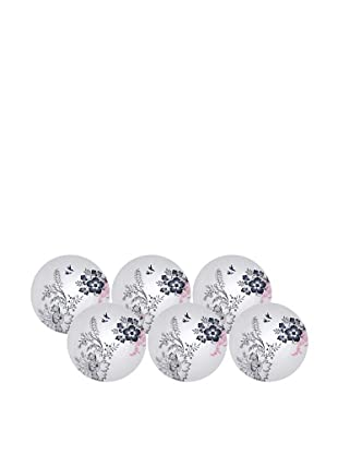 Elinno Set of 6 Love in the Air Plates, White/Multi, 8