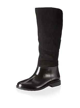 Storm by Cougar Women's Street Rain Boot (Black Silky Suede)