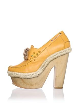 Be&D Women's Clara Platform Boat Shoe (Orange)