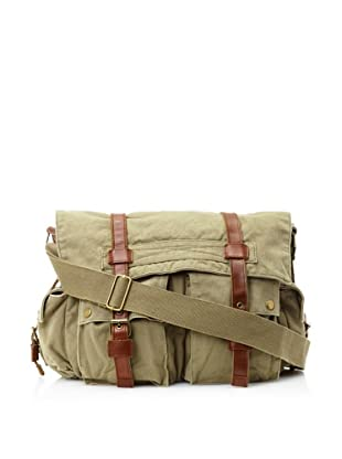 J. Campbell Los Angeles Men's Washed Canvas Messenger, Green