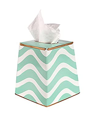 Malabar Bay Breakers Tissue Box Cover, Aqua