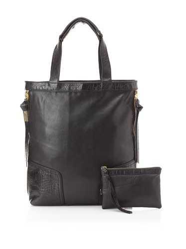 Foley + Corinna Women's Snappy Shopper (Black Crocodile)