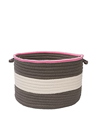 Colonial Mills Color Block Round Basket, (Gray Pink)