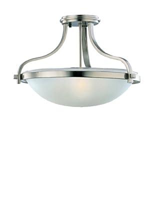 Sea Gull Lighting 3-Light Eternity Semi-Flush Fixture, Brushed Nickel