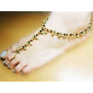 Meenakari beach anklet