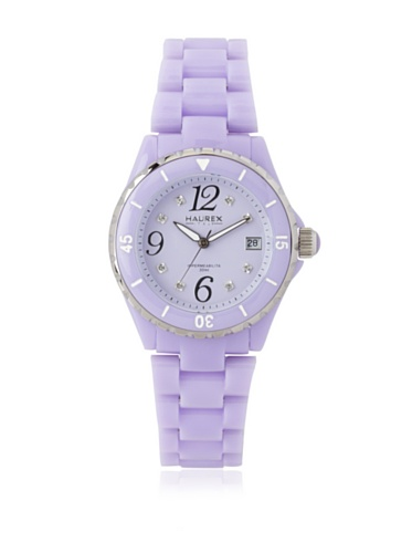 Haurex Italy Women's PV342DV1 Make Up Lilac Crystal Date Watch