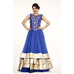 Bawree Evening Gown Net - Navy Blue