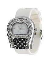 Optima Analogue White Dial Women Watch -9047-Sww