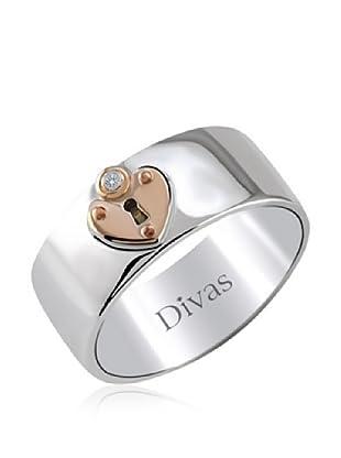 Divas Diamond Anillo Diamante Corazón Lock