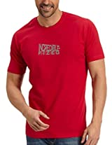 Fritzberg Men's Round Neck T-Shirt (5623791630401_Small_Red)