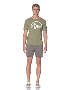 Rhythm Men's Half Dome Street Fit Tee (Olive Heather)