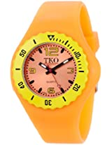 TKO ORLOGI Women's TK595OR Beach Lightweight Orange Rubber Watch