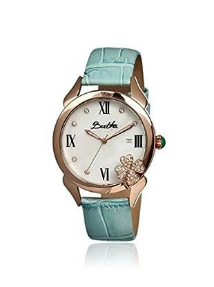 Bertha Women's BR2205 Clover Powder Blue/White Leather Watch
