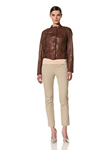 Andrew Marc Women's Amber Leather Jacket (Chocolate)