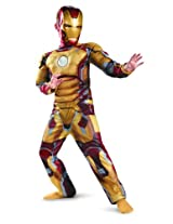 Marvel Iron Man 3 Boys Classic Muscle Costume, 4-6
