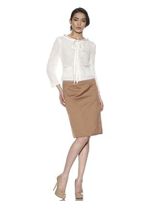 Philosophy Di Alberta Ferretti Women's Ribbon Weave Jacket (White)
