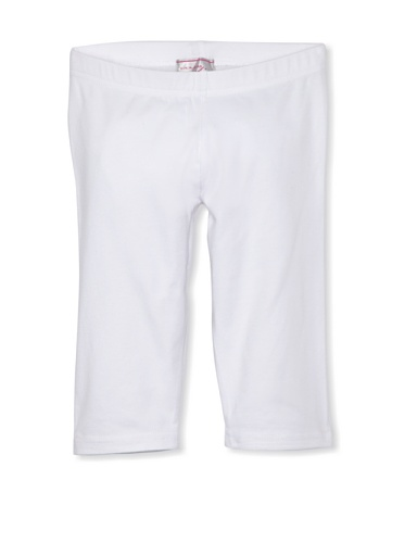 Coupé Cutie Girl's Cropped Knit Legging (White)