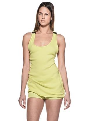 Crema Camiseta Abalorios (Verde)