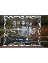 Personalized Rectangular Shaped 3D Photo Crystal with LED Light Base