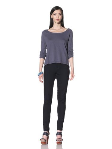 Cullen Women's Open Neck Hi-Lo Sweater (Dusk)