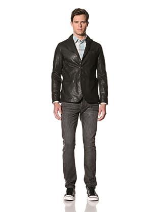 John Varvatos Star USA Men's Scapelli Lambskin Two-Button Peak Lapel Jacket (Titanium)