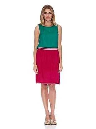 Monoplaza Vestido Cooper (Fucsia / Verde)